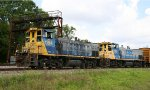 CSX 1184 & 1150 lead a train back to the yard