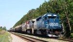 HLCX 8142 leads a CSX grain train