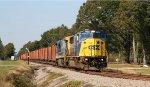 CSX 8771 & 7088 lead a ballast train