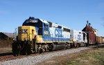 CSX 6431 & 2262 lead train F728 towards the yard