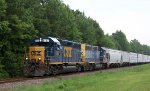 CSX 6107 & 6071 lead a train northbound