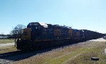 CSX 6419 & CSX 2235 take empty woodchip hoppers northbound