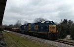 CSX 2235 & 6419 lead a train southbound