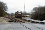 P86 coming of the branch and heading to Hayne yard