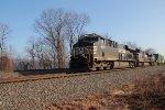 NS 8147 leads train 21E through MP116 at Cove PA