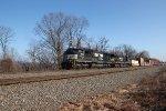 NS 1805 leads train 23Z through MP116 at Cove PA