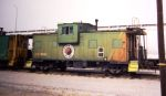 BN CABOOSE IN NP PAINT