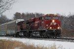 CP 8940 leads daily westbound autorack/intermodal train 199