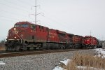 CP 8731 leading 281 on the main overtakes G64 waiting on the M&P (Madison branch)