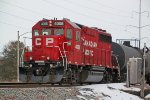 CP 4008 waits its turn to roll into town and enter the yard
