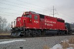 With a throaty EMD growl, the rebuilt GP40 brings G64's train toward the yard to finish up for the day
