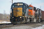 CSX 8836 leads BNSF and NS GEs on westbound CP oil MTs train 587