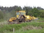 KBR 925, ballast maintenance equipment on Colebrook Siding W/B