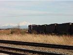 Trailing DPU, BNSF 6250, loaded N/B coal train, Mt. Baker(WA) in the background