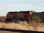 BNSF 6250, Trailing DPU, N/B loaded coal train