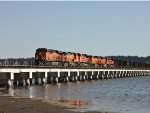 6 locomotive BNSF mixed freight consist N/B