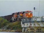 BNSF 6250/ KCS 4121/BNSF 6065 S/B Mud Bay Crossing