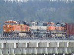 BNSF 7805/9794/967 N/B on the Mud Bay Crossing