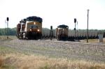Coal Trains Meet On Buttermilk Curve