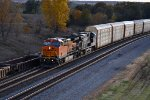 BNSF 615 Drags a rack train east into Baring Mo.