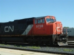 CN 5730 waiting to exit Canada