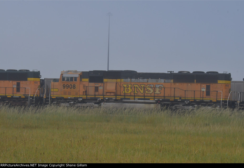 BNSF 9908 Roster shot.