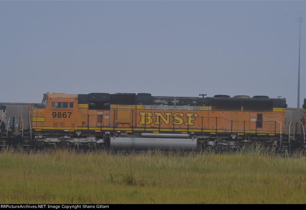 BNSF 9867 Roster shot.