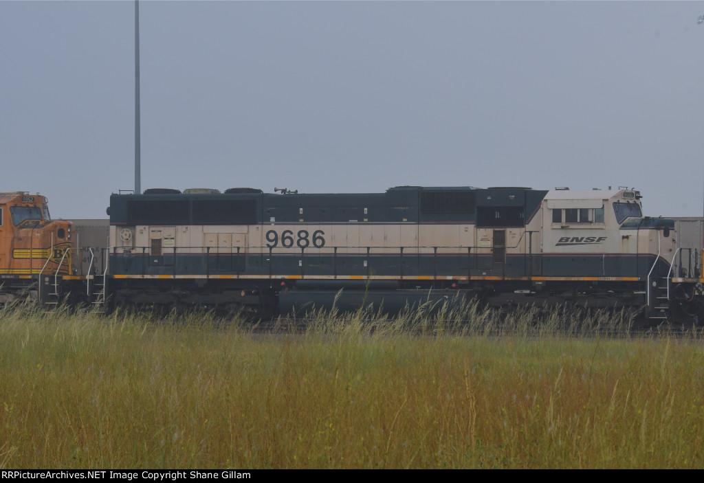 BNSF 9686 Roster shot.