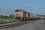 UP 7801 Rolls a loaded grain west toward Cheyenne WY,
