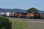 BNSF 6050 Drifts down Belmont Hill toward Crawford NE.
