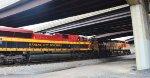 KCS 4196 & BNSF 6967