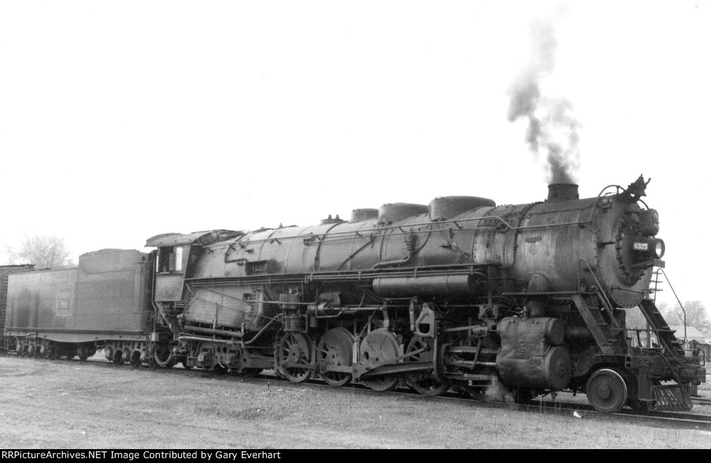 CBQ 2-10-4 #6325 - Chicago, Burlington & Quincy