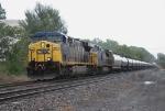CSX 677 leads an ethanol train