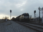 NS 2725 passes a waiting coal drag