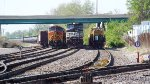 A trio of trains at Mitchell.......