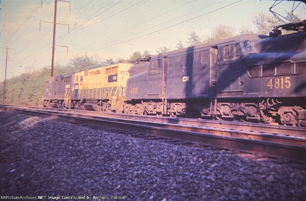 Mixed power on a freight