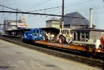 Conrail switcher with circus train