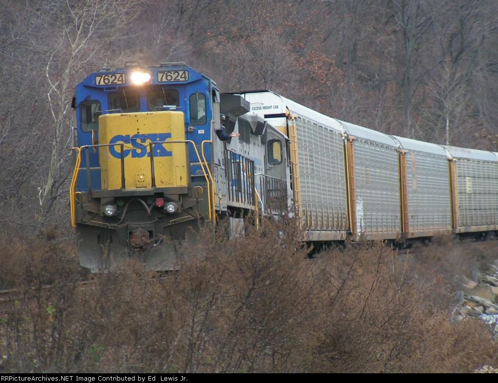 CSX 7624 Approaching Signal 49S