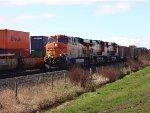 E/B BNSF Coal train (empty) Fisher Siding, Roberts Bank