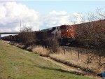BNSF 7086 trailing DPU, E/B Coal train (empty), Fisher Siding