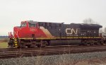 CN 3050 E/B unit stack train waiting to depart Fisher Siding