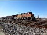 BNSF Coal train W/B into Roberts Bank, DPU BNSF 5218 trailing