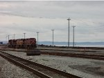 CP 8516/UP 7749/CP 8732, light power at the west end of Roberts Bank Yard, the Strait of Georgia and the Gulf Islands in the background
