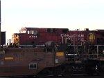 Mid train DPU, CP 9751 of an empty coal hopper train.