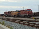 CP 8516/UP 7749/CP 8732 light power move in Roberts Bank Yard