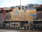 Close up of UP 7749, part of a CP/UP light power move in Roberts Bank Yard