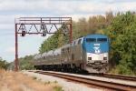 Amtk 89 slowly follows CSX K651