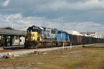 Q450 by the station at Rocky Mt with an SD50-2 leading