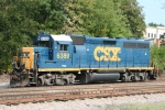 CSX 6389 rests from a weeks work on F799