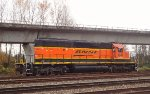 BNSF 1641, remote controlled switcher at idle facing S/B in the CN/BNSF New Westminster Yard
